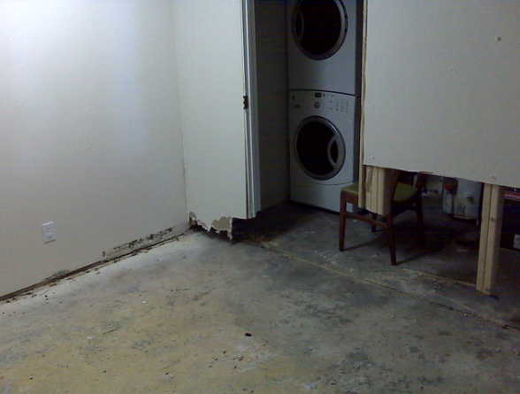 flooded basement water damage remediation
